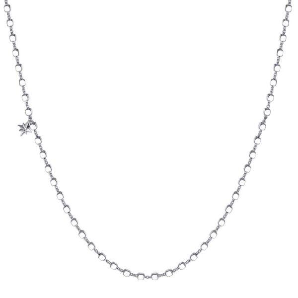 base collana rosato gioielli cubi cubetti pendente stella zircone argento rodio