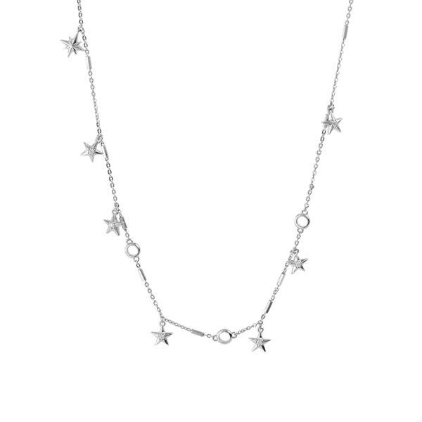 collana rosato storie pendenti stelle argento rodio zirconi componibile
