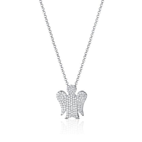 collana giannotti angelo argentopavè zirconi bianchi