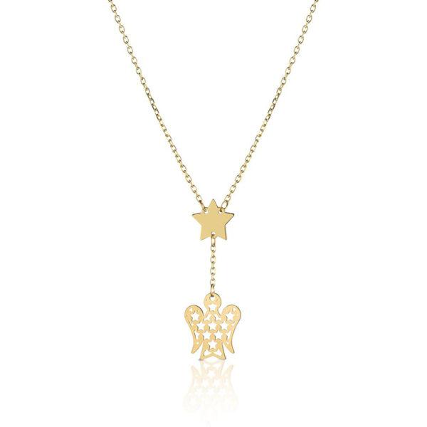collana giannotti oro giallo stelle angelo pendente