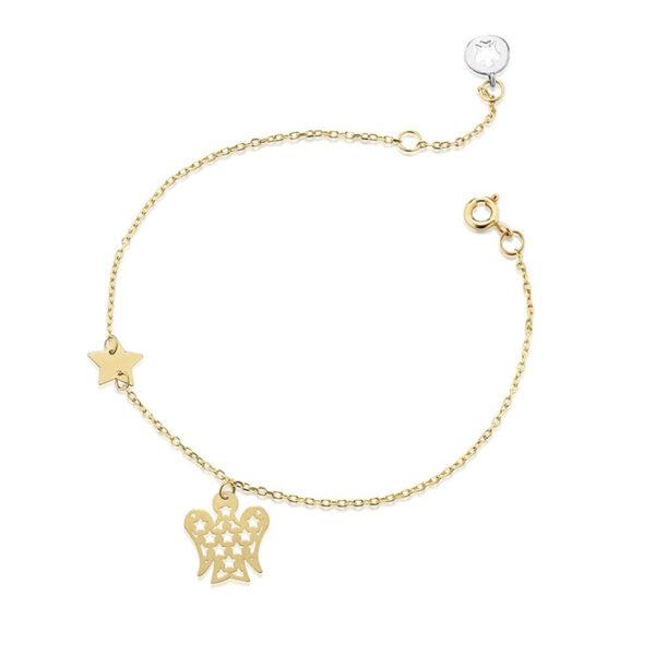 bracciale giannotti oro giallo angelo pendente stelle