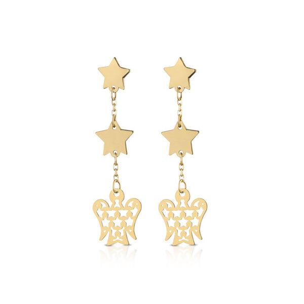 orecchini giannotti oro giallo stelle angelo pendenti