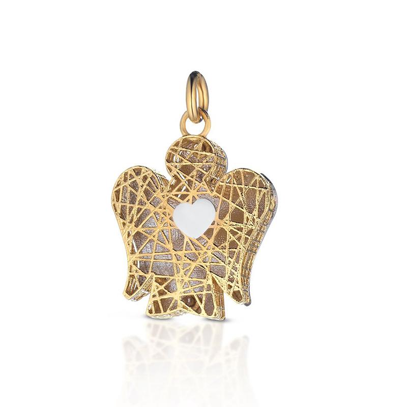 pendente piccolo giannotti oro giallo angelo traforato cuore