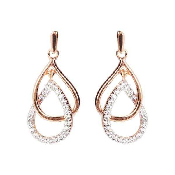 orecchini pendenti bronzallure goccia zirconi