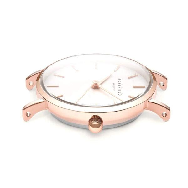 orologio rosefield the small edit quadrante bianco acciaio argento bicolor rosegold oro rosa