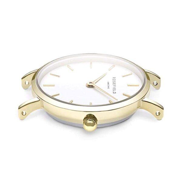 orologio rosefield the small edit quadrante bianco acciaio oro giallo