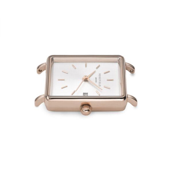 orologio rosefield the boxy mini oro rosa rosegold acciaio quadrante bianco rettangolare