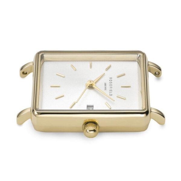 orologio rosefield the boxy mini giallo oro acciaio bicolore quadrante rettangolare