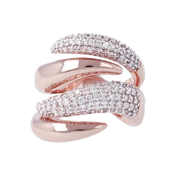 anello fiamma bronzallure rosa zirconi