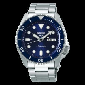 orologio automatico seiko tipo rolex submariner blu