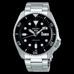 orologio automatico seiko tipo rolex submariner nero