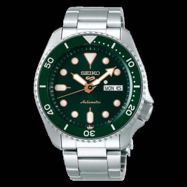 orologio automatico seiko tipo rolex submariner verde