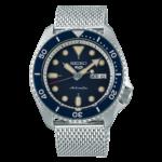 orologio da uomo con cinturino maglia milano automatico blu