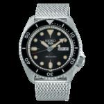 orologio da uomo con cinturino maglia milano automatico nero