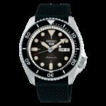 orologio da uomo con cinturino gomma nero automatico