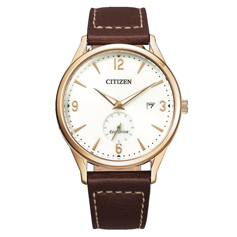 orologio citizen oro quadrante bianco cinturino pelle marrone