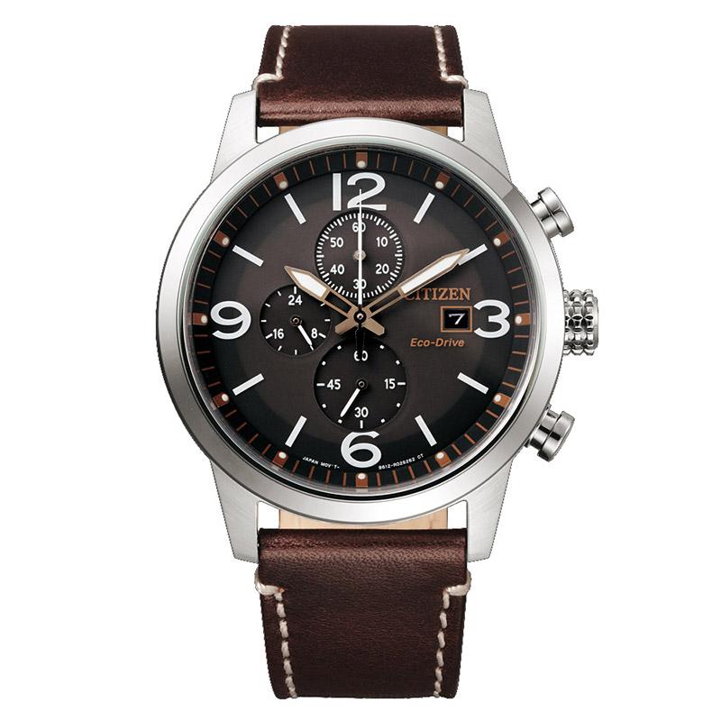 orologio uomo citizen quadrante marrone cinturino pelle marrone