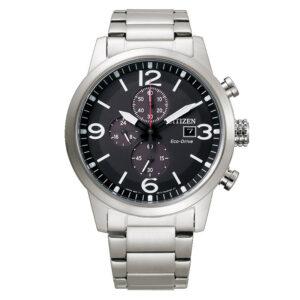 orologio crono acciaio quadrante nero uomo