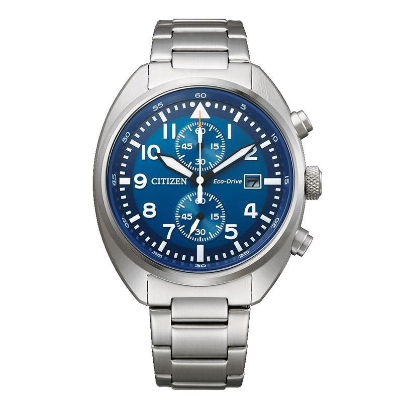 orologio citizen uomo crono quadrante blu