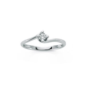 anello solitario miluna diamante 15 ct