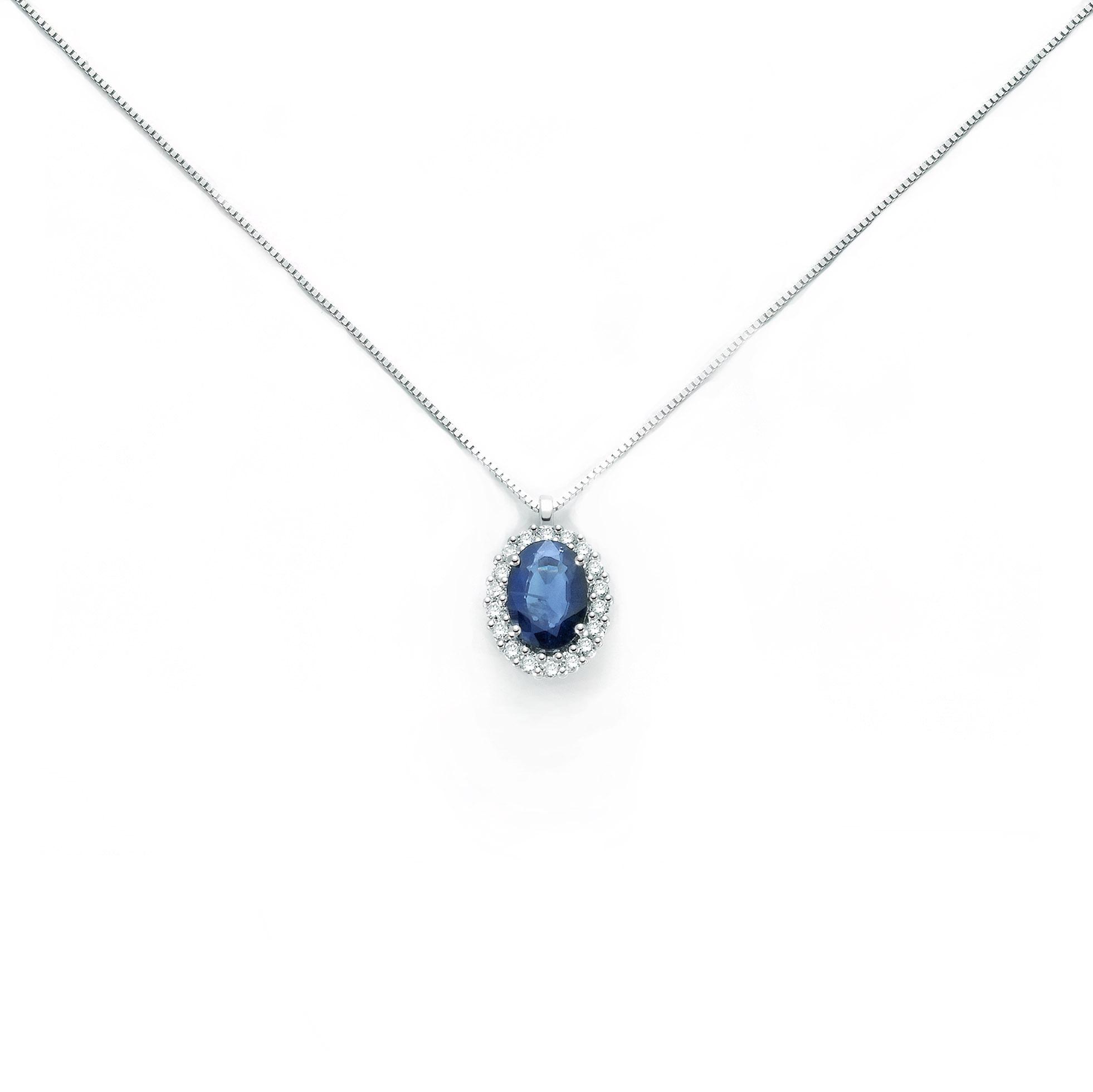 collana miluna collier zaffiro blu diamanti