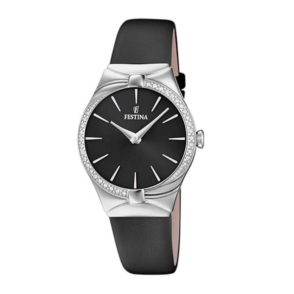 orologio festina donna quadrante nero pelle
