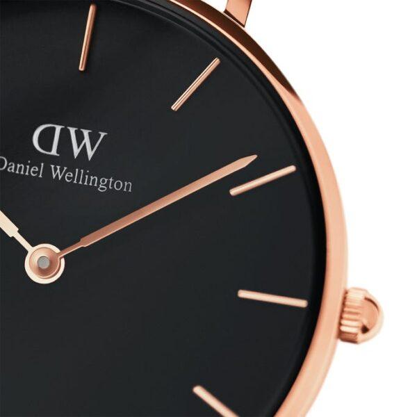 orologio dw nero oro rosa