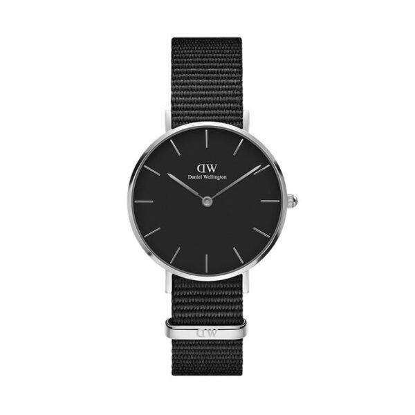 orologio dw argento nero nato petite cornwall 32