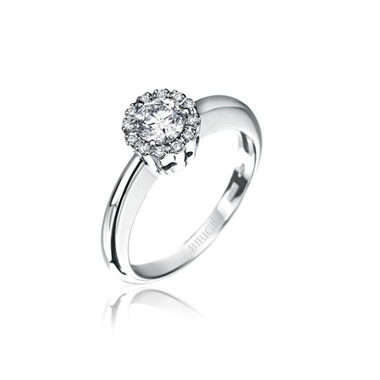 anello solitario bibigì oro bianco diamante
