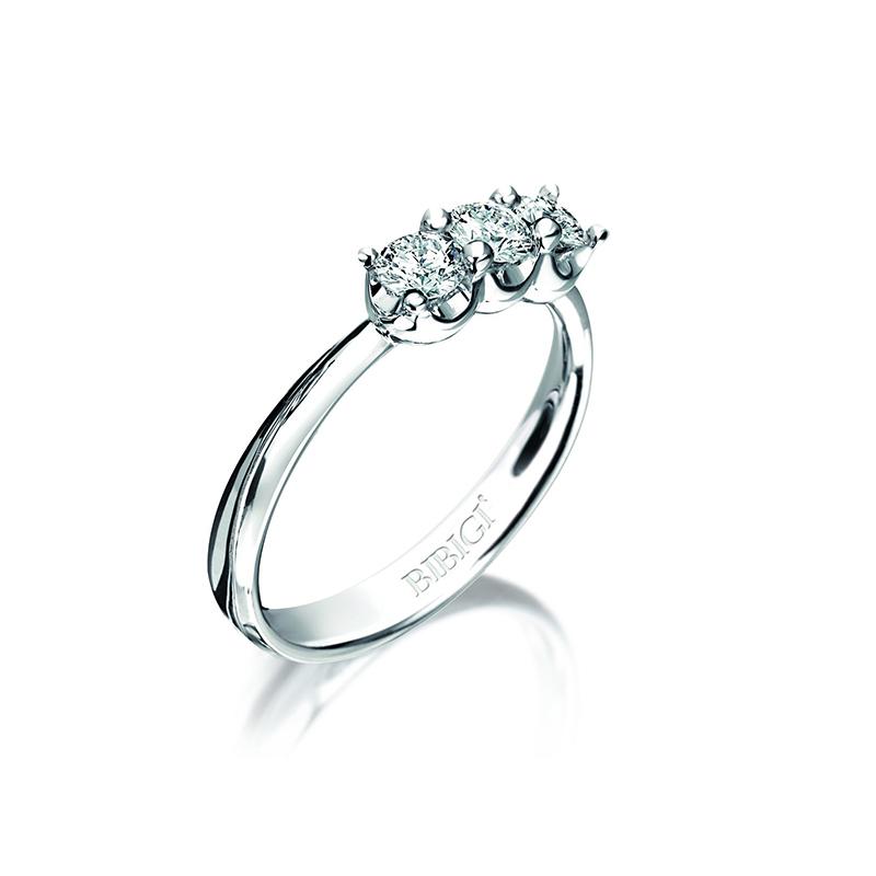 anello trilogy corona bibigì diamanti