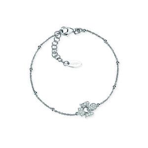 bracciale amen argento angelo zirconi cuore pavè