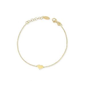 bracciale amen argento oro giallo cuore