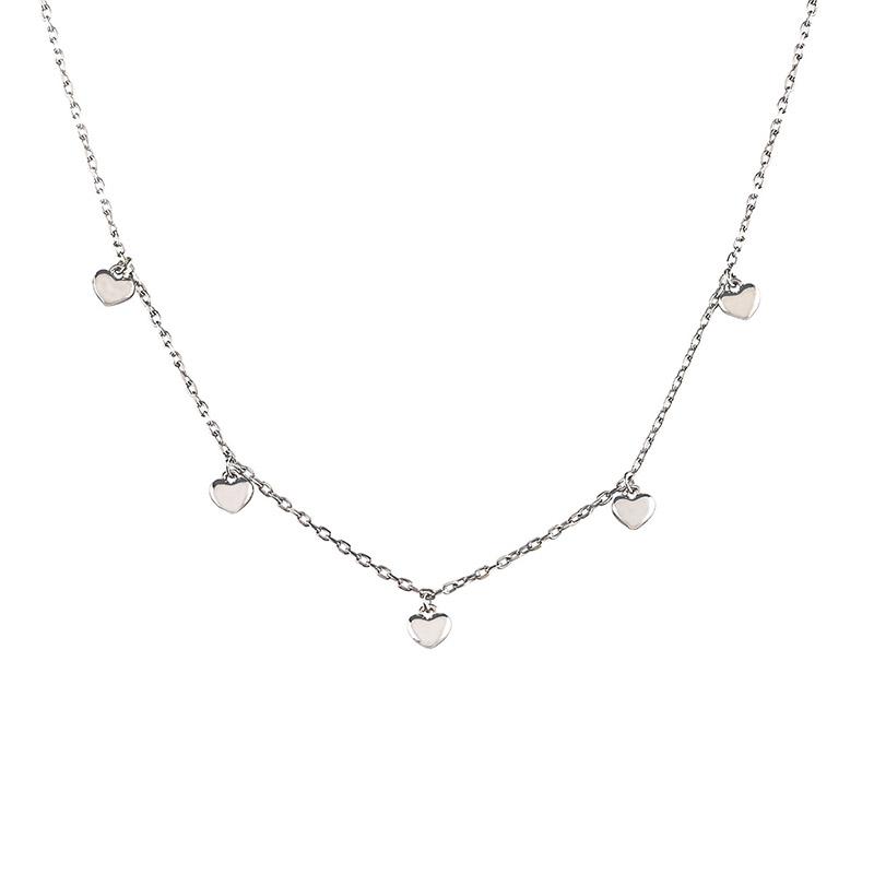collana jack & co argento cuori pendenti