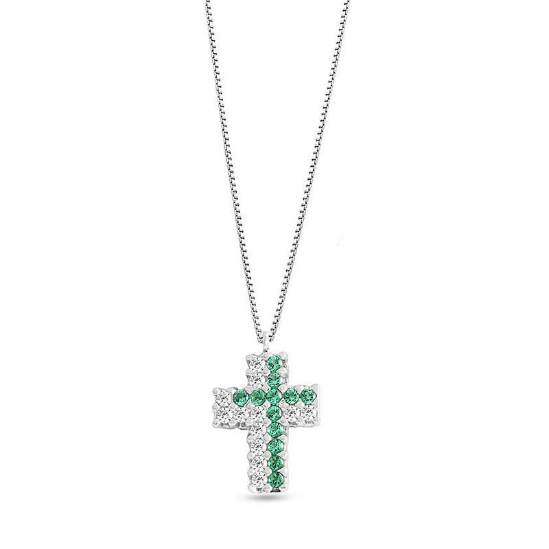 collana ciondolo croce verde