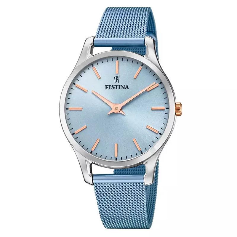orologio minimal da donna semplice colore azzurro