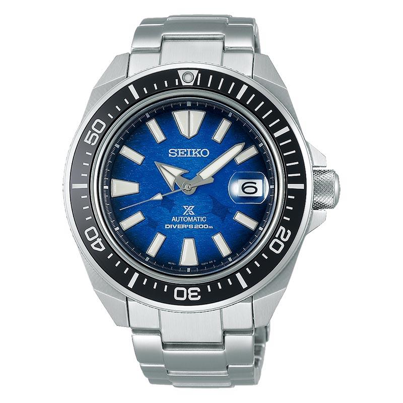 orologio da uomo subacqueo blu in acciaio