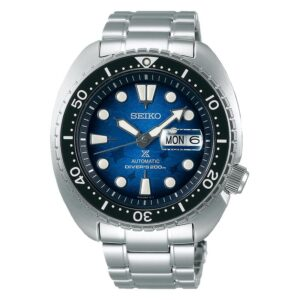 orologio da uomo resistente all' acqua blu acciaio