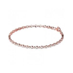 bracciale bronzallure tennis rosa zirconi alternato