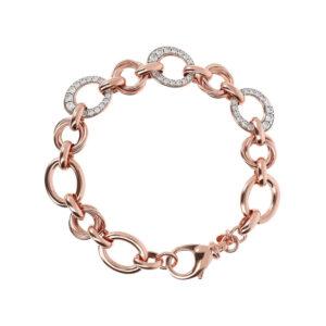 bracciale bronzallure maglia ovali zirconi