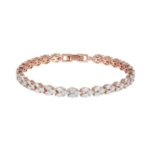 bracciale tennis bronzallure rosa zirconi navette