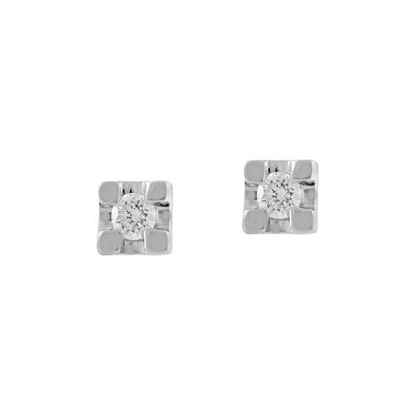 orecchini punto luce diamante piccolo econimico