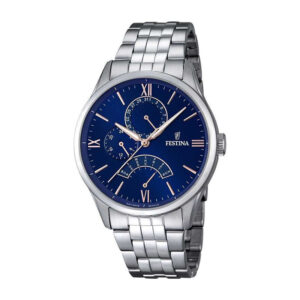 orologio festina uomo multifunzione blu acciaio