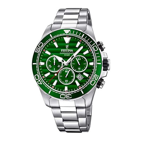 orologio festina uomo chrono verde