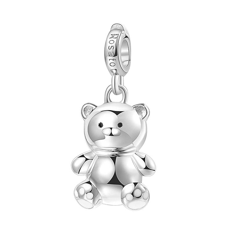 charm rosato gioielli orsetto argento rodio