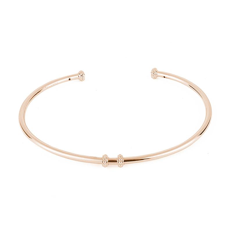 bracciale rigido rosato gioielli argento oro rosa