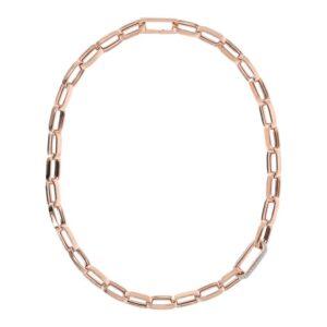 collana bronzallure oro rosa maglia squadrata catena forzatina