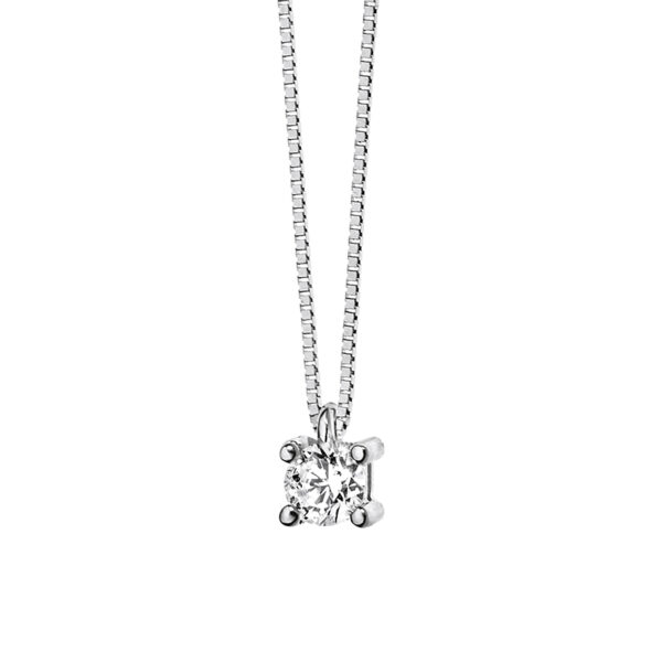 collana comete gioielli punto luce oro bianco diamante glb14