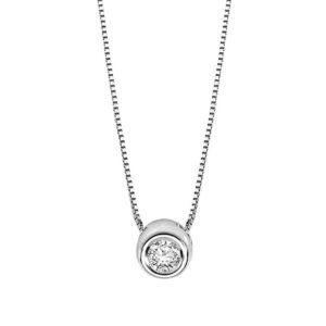 collana comete punto luce tondo cipollina diamante glb 1424