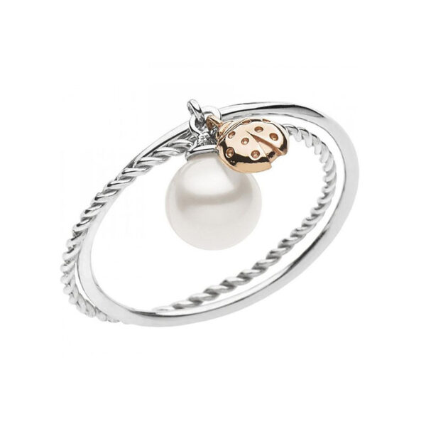 anello comete gioielli anp 364 perla coccinella rosa