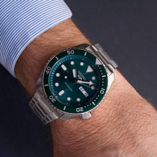 orologio seiko verde acciaio automatico uomo